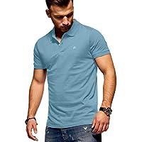 Jack & Jones Polo para Hombre Camiseta Camisa Manga Corta Unicolor (XX-Large, Forget-Me-Not)