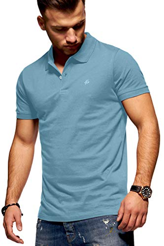 JACK & JONES Herren Poloshirt Polohemd Shirt Basic Polo Taxis (Large, Forget-Me-Not)