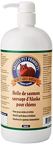 Grizzly Huile de Saumon pour Chien