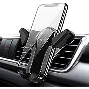 Licheers Handyhalterung Auto, Handyhalter fürs Auto: Universal 360 Grad Drehung KFZ Lüftung Smartphone Halter für iPhone, Samsung, Huawei und mehr Smartphone von 4-6,5 Zoll (Schwarz)