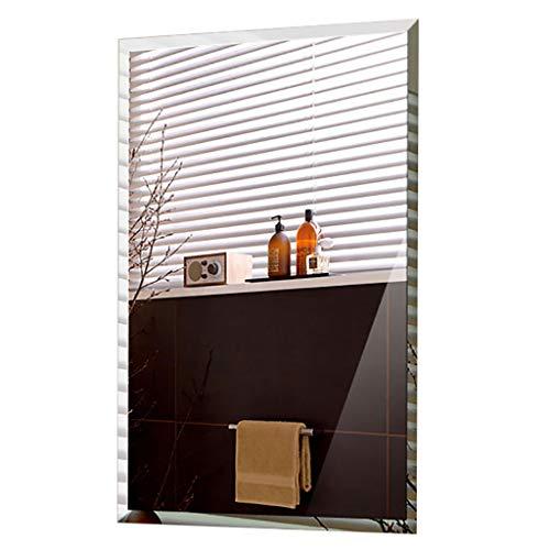Specchi Bagno Specchio Rettangolare Senza Cornice Angolo Retto Smussato Specchio da Toilette Trucco con Wall Hanging Hardware di Fissaggio per Bagno Bagno