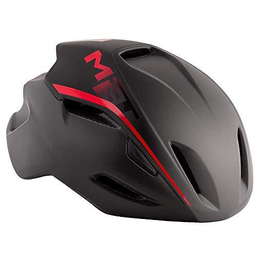 Met Casque Couverture M(54-58) Cyclisme Adulte Unisexe Multicolore (Noir Rouge)