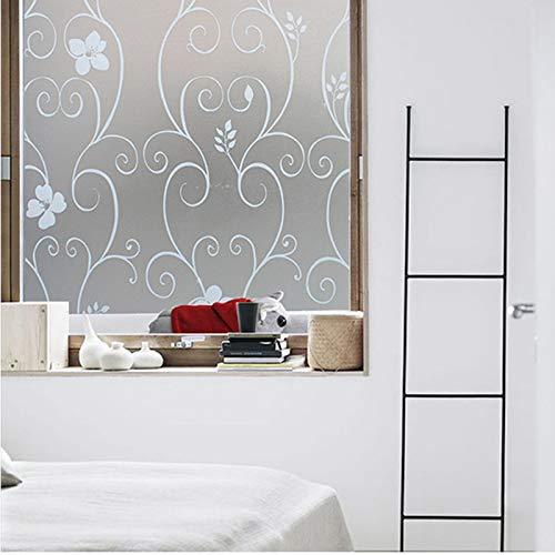 NYWENY 45 * 200CM Fensterfolie Fensterfolien Sonnenschutz Statische Für Fenster Oder Badezimmer Milchglasfolie Weiße Orchideen
