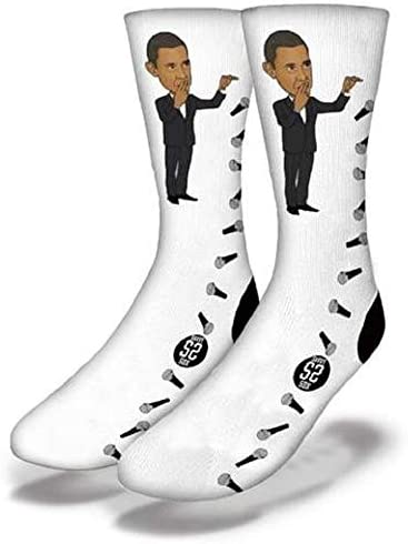 Barrack Obama Mic Drop Peace Out Socks One Size Fits Most Adults product image