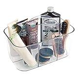 mDesign transparenter Schuhputzkasten - Schuhputzkiste mit 4 Fächern - tolle Aufbewahrungsbox aus...