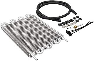 Silverdrew Motores Aire Acondicionado Condensador de Correa Tubular 8 Filas Aluminio Transmisión remota Enfriador de Aceite/Kit de convertidor de radiador automático Manual