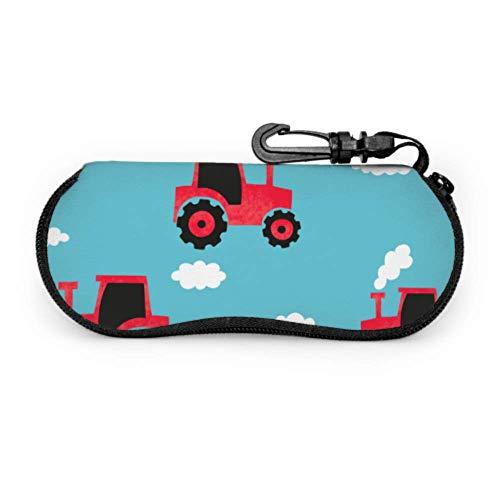 Cartoon niedlichen kindlichen lustigen Traktor Brillenetui Kinder farbige Brillenetui Licht tragbare Neopren Reißverschluss Soft Case Sonnenbrillenetuis für Frauen