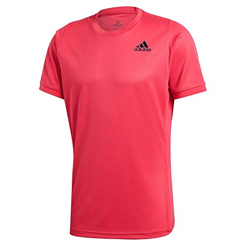 adidas Freelfit Heat Ready Solid Tee - Camiseta para hombre - JII31, Medium, Rosa (Power Pink)