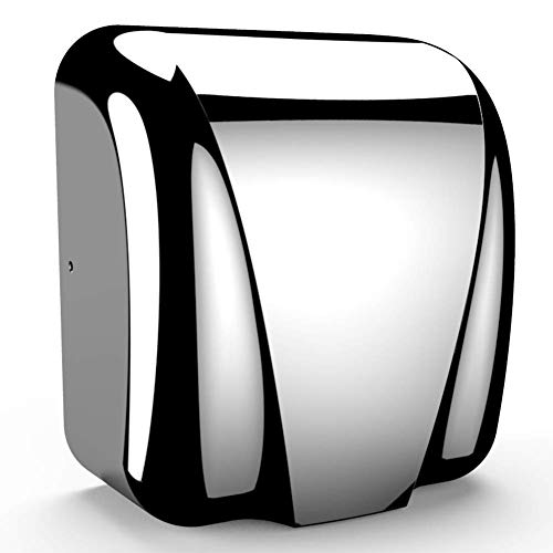 Commercial Bathroom Hand Dryer, Polished Stainless Steel Shell, Powerful 1800W