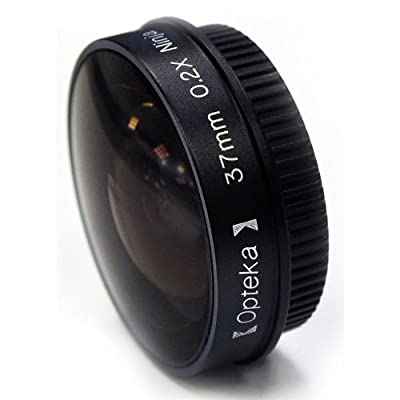 Opteka Platinum Series 0.2X Low-Profile Ninja Fisheye Lens for 30.5mm Camcorders from Opteka