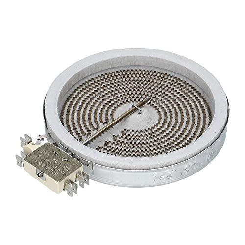 LUTH Premium Profi Parts Calentador Radiante HiLight de un Circuito 1200W 230V 140mm Glaskeramikkochfeld Vitrocerámica para Ego 10.54113.034 Bosch 00289561