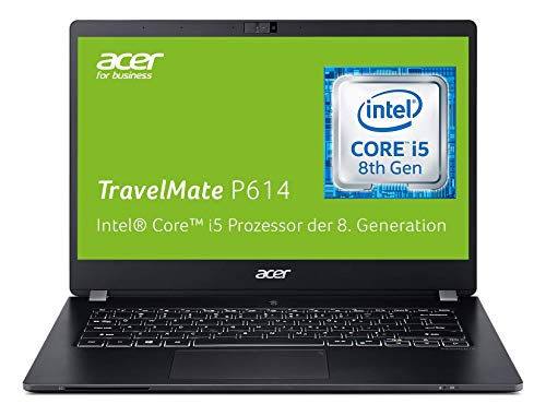 Acer TravelMate P6 TMP614-51T-55UU 35,6 cm (14 Zoll Multi-Touch Full-HD IPS) Notebook (Intel Core i5-8265U, 8GB RAM, 1.000GB PCIe SSD, Intel UHD, Win 10 Pro) schwarz