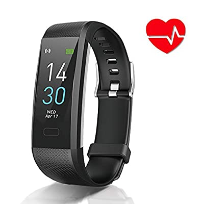 Fitness Tracker with Blood Pressure Heart Rate Sleep Monitor,IP68 Waterproof Activity Tracker Smart Watch Pedometer Step Counter Compatible with iPhone and Android Phones for Kids Man Women