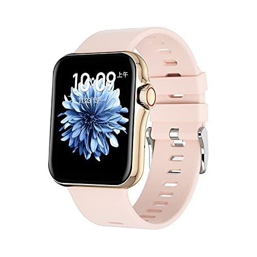 Ownlife Touch Full Touch HD Pantalla Smart Watch Sport Tracker Support Bluetooth Llamar la frecuencia cardíaca BP ECG con la reproducción de música BT (Color : Pink)