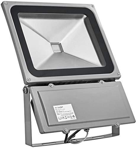 YLLN Reflectores LED RGB de 100 W, Enchufe y Control Remoto del Reino Unido, luz de Seguridad LED Que Cambia de Color RGB para escenarios de jardín, IP65 a Prueba de Agua