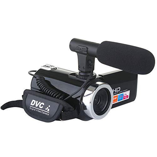Videocamera Videocamere portatile, videocamera zoom Full HD 18X 1080P 24MP, registratore a schermo flip LCD da 3 pollici, con microfono esterno e interfaccia av