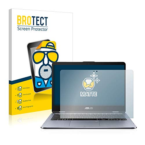 BROTECT Entspiegelungs-Schutzfolie kompatibel mit Asus VivoBook Flip 14 TP410UR Bildschirmschutz-Folie Matt, Anti-Reflex, Anti-Fingerprint