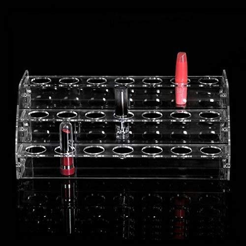 ZHAS Le Support Acrylique de Rouge à lèvres de boîte de Stockage cosmétique Peut être réglable à l'étal de présentoir de Support de Vernis à Ongles Multi Outils de Maquillage Fonctionnels organis