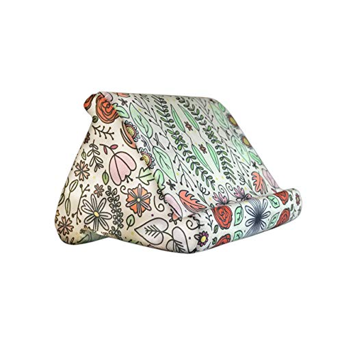 Paisley Floral Tablet and Book Pillow Cushion Stand Holder