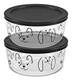 Pyrex Simply Store 4 Cup My Best Friend Round Storage Set, 4PC