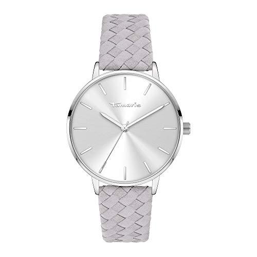 Tamaris Damen Analog Quarz Uhr mit Leder Armband