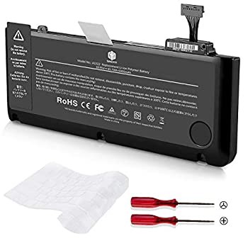 A1322 Battery for A1278 Apple MacBook pro 13 inch Mid 2012 Early 2011 Late 2011 Mid 2010 2009 with 6000mAh Newer Tech  MC374LL/A MB990LL/A MB991LL/A MC700LL/A MD313LL/A MD101LL/A MD102LL/A Battery