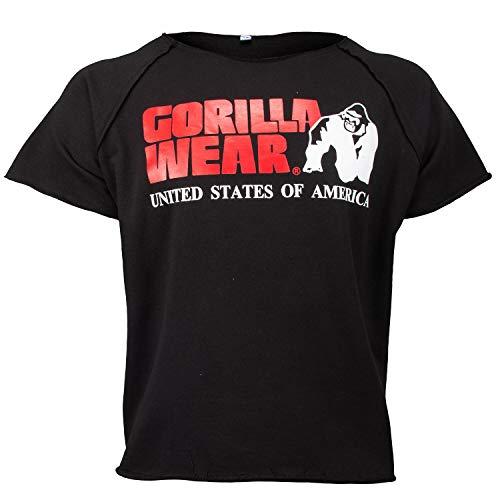 GORILLA WEAR Classic Work Out Top für Bodybuilder - Strongman und Fitness Schwarz L/XL