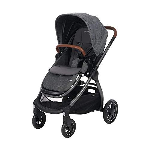 Maxi Cosi Adorra Kombi Kinderwagen, mit Liegeposition, großem Einkaufskorb, einhändigem Faltmechanismus und geringem Gewicht, nutzbar ab Geburt bis ca. 3,5 Jahre, 0-15 kg, Sparkling Grey (grau)