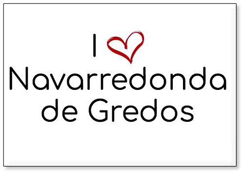 Mundus Souvenirs - Amo Navarredonda de Gredos, Imán para Nevera (diseño 2)