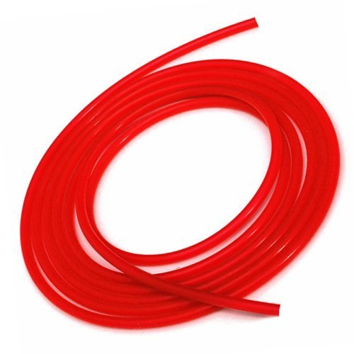 Upgr8 10 Feet Length Universal 5mm (3/16 Inch) Inner Diameter High Performance Silicone Vacuum Hose Line (5MM RED)