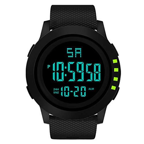 Uhren Hffan Armbanduhr für Herren Analog Digital Sport Wasserdicht Sehen Fitness Tracker mit Herzfrequenz, Schrittzähler - Uhr Herren - Schlaf-Monitor, Anrufbenachrichtigung, Kalorienzähler