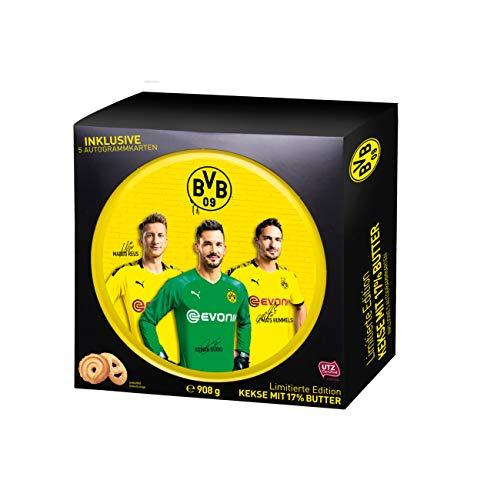 Gunz BVB Borussia Dortmund Butter Cookies Limited Edition Geschenkpackung 908g incl 5 Autogrammkarten 0094154