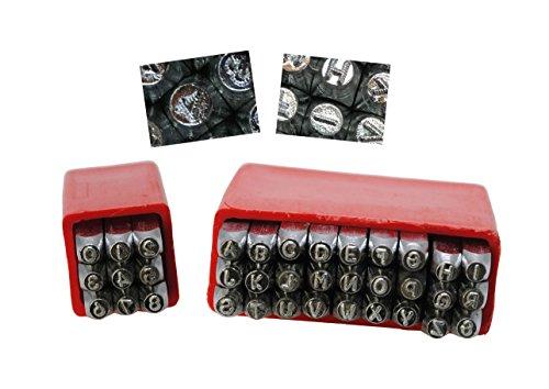 Proops Metallarbeiten Buchstaben und Zahlen Stempel Set, Dotted Schriftart, Großbuchstaben, 36Stück, 2,5mm, Buchstabe A-Z & Anzahl Set. (J2163) versandkostenfrei innerhalb UK
