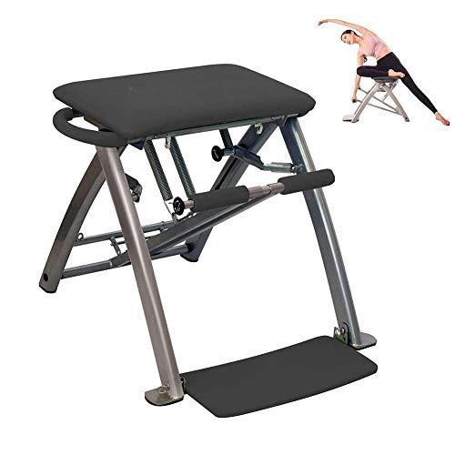 GYPPG Silla de Ayuda para Yoga Pilates, Banco de Ejercicio Plegable Ajustable para el hogar, Ejercicio multifunción, Taburete de construcción de Fuerza