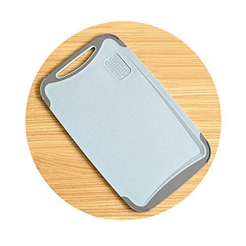 FFZH Tabla de Cortar, Tabla de Cortar de Paja de Trigo, 350 * 210 * 6.5mm, 2 Piezas,Azul