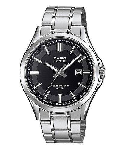 CASIO Herren Analog Quarz Uhr mit Edelstahl Armband MTS-100D-1AVEF