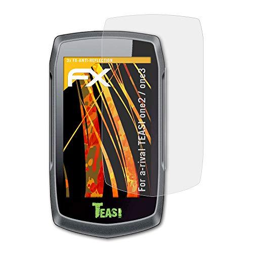 atFoliX Protector Película para a-Rival TEASI one2 / one3 Lámina Protectora de Pantalla - 3 x FX-Antireflex-HD antirreflectante de Alta resolución Película Protectora
