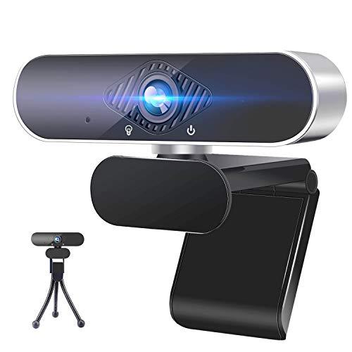 ANWIKE Webcam HD 1080P con micrófono, Webcam para computadora con Enfoque fixedmático para computadora portátil/computadora de Escritorio/Mac, para Video Llamada/Conferencia