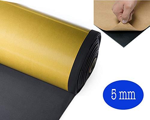 50 x 100 cm Dicke 5 mm | selbstklebendes Neopren-Blatt 5 mm dick | aus Schaumstoff FOLL NEP ® | selbstklebende Neopren-Folie | NEOPRENE BLATT