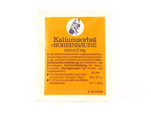 Sorbato de Potasio 10 g - Estabilizador de Vino ARAUNER - Inhibidor de Crecimiento de levadura