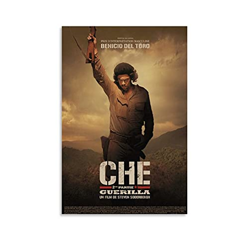 YUYING Póster de la película Che Part One Retro Poster del Che Guevara.0 Decoración de la sala de estar Póster de la sala de estar Póster de puerta estético 20 x 30 cm