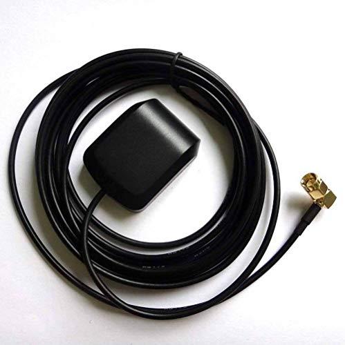 Audioproject A115 - actieve GPS-antenne SMA hoekstekker 5m kabel magnetisch SMA stekker verguld auto radio navigatie versterker incl 3M kleefpad