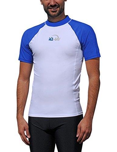iQ-UV Herren UV 300  Slim Fit Kurzarm T-Shirt, mehrfarbig (Blau /Weiss), XL (54)