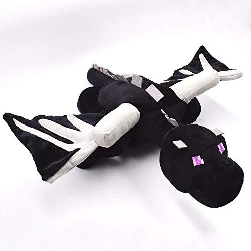 xuritaotao 60 cm Riesige Big Ender Drachen Plüschtier Weiche Schwarz Enderdragon Pp Cotton Dragon Spielzeug