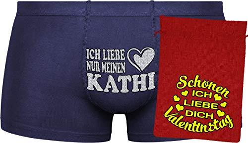 Herr Plavkin Geschenk für den Menschen | Ich Liebe nur Meine Kathi | Ostern | orange Boxershorts & Blue Bag ''Ostern''