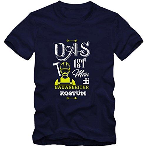 Verkleidung Bauarbeiter Premium T-Shirt | Kostüm | Karneval | Fasching | Kinder | Shirt, Farbe:Dunkelblau (French Navy L190k);Größe:12 Jahre (142-152 cm)
