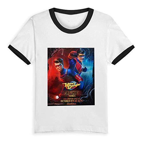 GOODSTHING Goodthings Kid T Shirt Danger TV Show of Henry 3D Camiseta de béisbol de Camiseta Corta de algodón Top para niños niñas niños