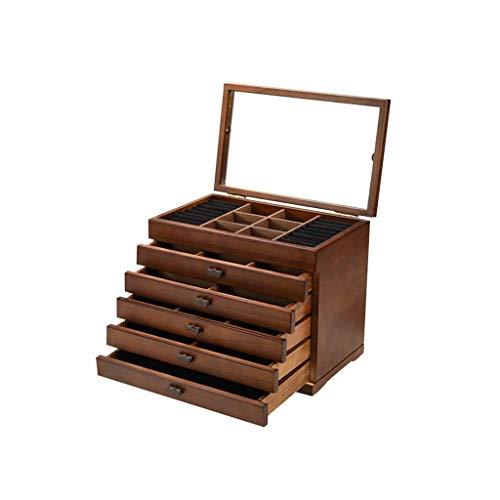 ZYING Mini Caja de joyería, Recuerdo Modernos de Almacenamiento Organizador con Ocultos Compartimiento for cajones Anillo,