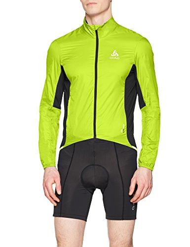 Odlo FUJIN Blouson Cyclisme Homme, Acid Lime-Black, FR : S (Taille Fabricant : S)