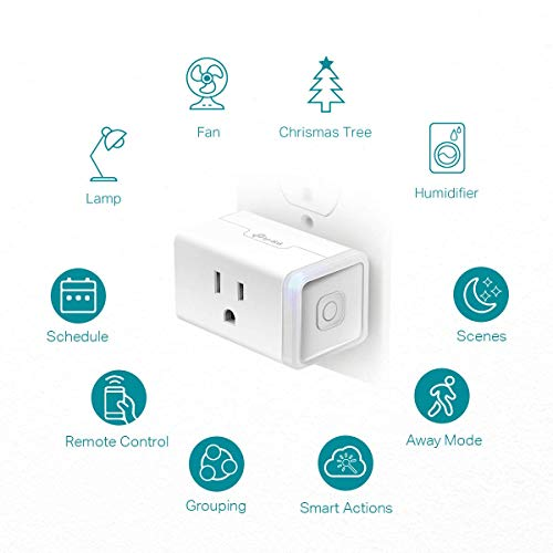 Kasa Smart Plug HS103P4, Smart Home Wi-Fi Outlet Works with Alexa, Echo, Google Home & IFTTT, No Hub Required, Remote Control, 15 Amp, UL Certified,4-Pack , White